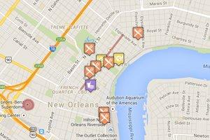New Orleans Interactive Restaurant Map