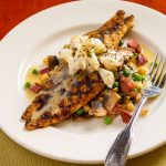 Grilled Redfish and Crabmeat with Lemon-Butter Sauce thumb