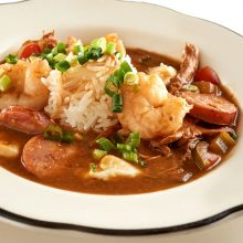 Shrimp, Chicken and Andouille Sausage Gumbo thumb