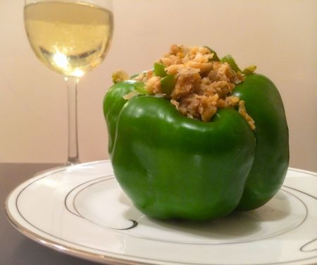 crabmeat stuffed pepper