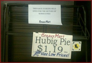 hubig pies sold out