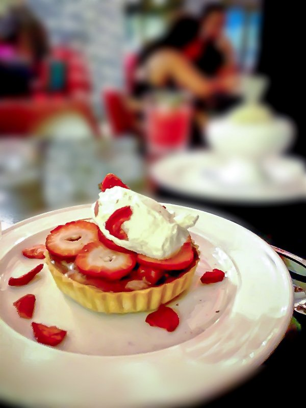 Strawberry Basil Ice Box Pie